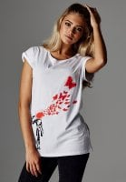 Banksy Butterfly T-shirt dame