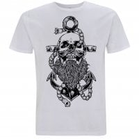 Beard and anchor hvid T-shirt