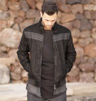 Biker Jacket suede imitation
