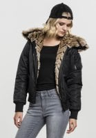 Bomber jacket with fur sort