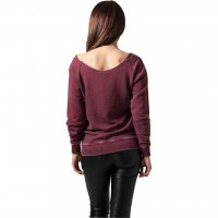 Burnout damsweatshirt burgundy 2