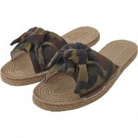Camo canvas mules 1