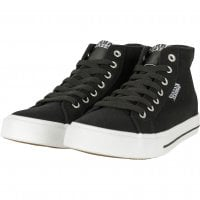 Canvas sneakers sort/hvid