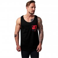 Contrast pocket jersey big tank sunset
