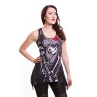 Crow girl lace panel vest