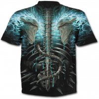 Flaming spine t-shirt -bak