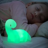Dinosaur multifarvet LED-lampe Lightosaurus