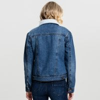 Ladies Sherpa Denim Jacket 2