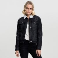 Ladies Sherpa Denim Jacket sort