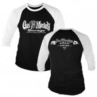 Gas Monkey Garage bar knuckles 3/4 baseball tee 1