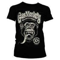 Gas Monkey Garage Big Brand Logo - t-shirt tjej