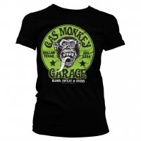 Gas Monkey Garage - Grön Logo tjej t-shirt