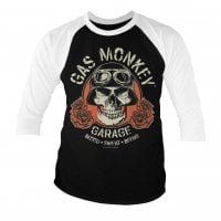 Gas Monkey Garage skull baseball 3/4 tee