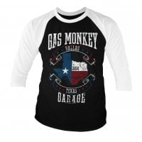 Gas Monkey Garage - texas flag 3/4 baseball tee.
