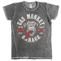 Gas Monkey Garage Vintage T-shirt - Round Seal