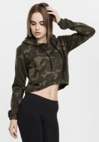 Ladies Camo Cropped Hoody sporty