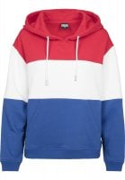 Striped hoodie lady red
