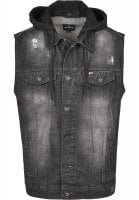 Mens hoodied Denim Vest
