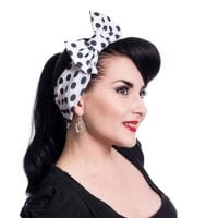 Jolene Headband Black Polka Dots