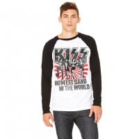 KISS - Hottest Band In The World Baseball longsleeve 2