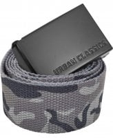 Long canvas belt grey camo