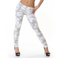 Ljusa camouflage jeans