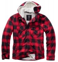 Lumberjacket hooded rød/sort 1