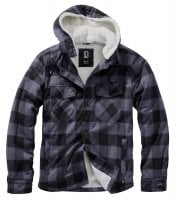 Lumberjacket hooded sort/grå 1