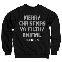 Merry christmas ya filthy animal sweatshirt 3