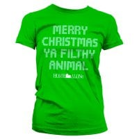 Merry christmas ya filthy animal dame T-shirt 2