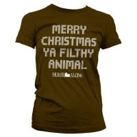 Merry christmas ya filthy animal dame T-shirt 3