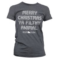 Merry christmas ya filthy animal dame T-shirt 4