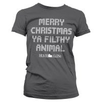 Merry christmas ya filthy animal dame T-shirt 5