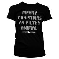 Merry christmas ya filthy animal dame T-shirt 6