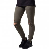 Ladies Cutted Terry Pants oliv