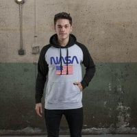 NASA - Old Glory Baseball Hoodie 2