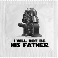I Will Not Be His Father kondom