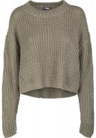 Ladies Wide Oversize Sweater oliv