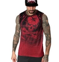 Red blazon basketball tank 1