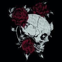 Skull and roses sweatpants 2