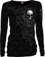 Skull Scroll Longsleeve Baggy Top