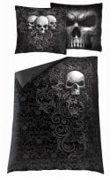 Skull scroll single duvet cover + UK and EU pillow case 2
