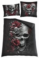 Skulls N' Roses double duvet cover + UK and EU pillow case 1