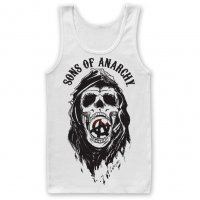 Sons Of Anarchy Draft Skull vitt linne
