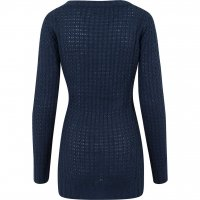 Wideneck sweater lång modell navy bak
