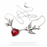 Necklace swallow heart design england