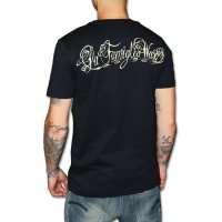 Angels pray svart wax t-shirt 2