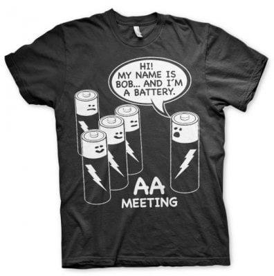 bba56e8763 AA Battery Meeting T-Shirt - Funny prints - Prints - Oddsailor.dk