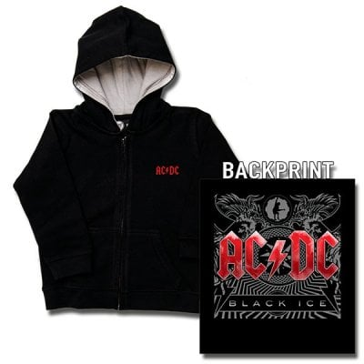 ff16c530a12 AC/DC kids hoodie - Black Ice - ACDC - Band Merch - Oddsailor.dk