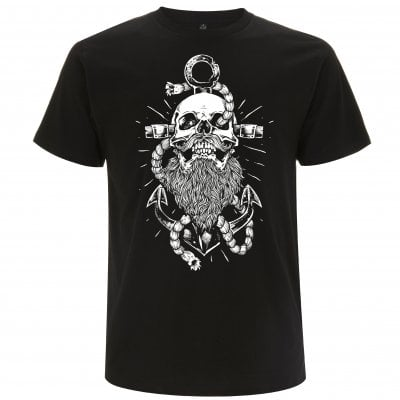 Beard and anchor sort T-shirt